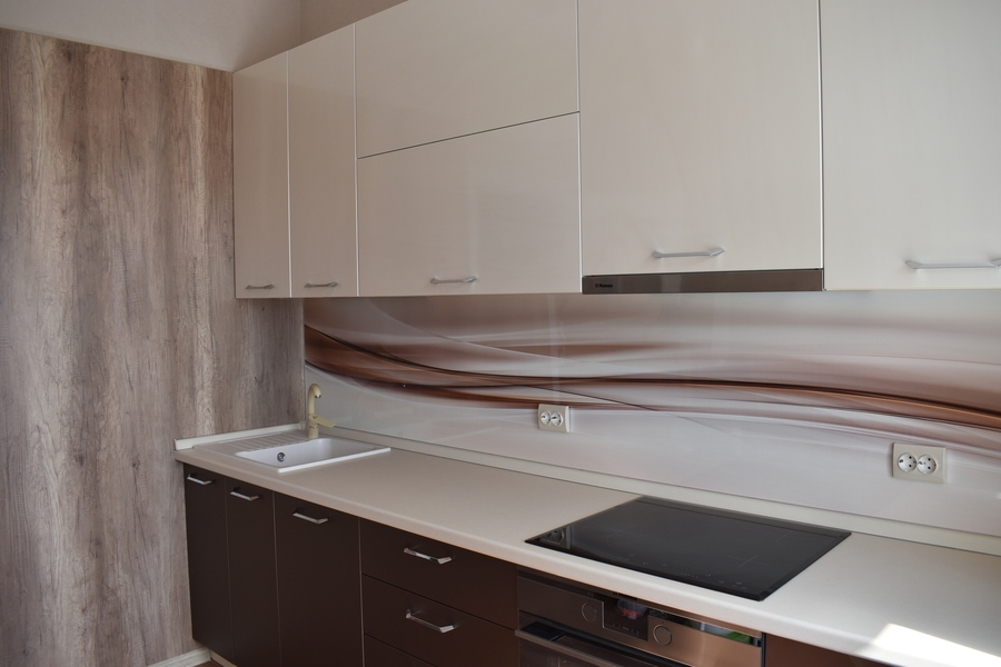 Белый кухонный гарнитур-Кухня МДФ в ПВХ «Модель 504»-фото3