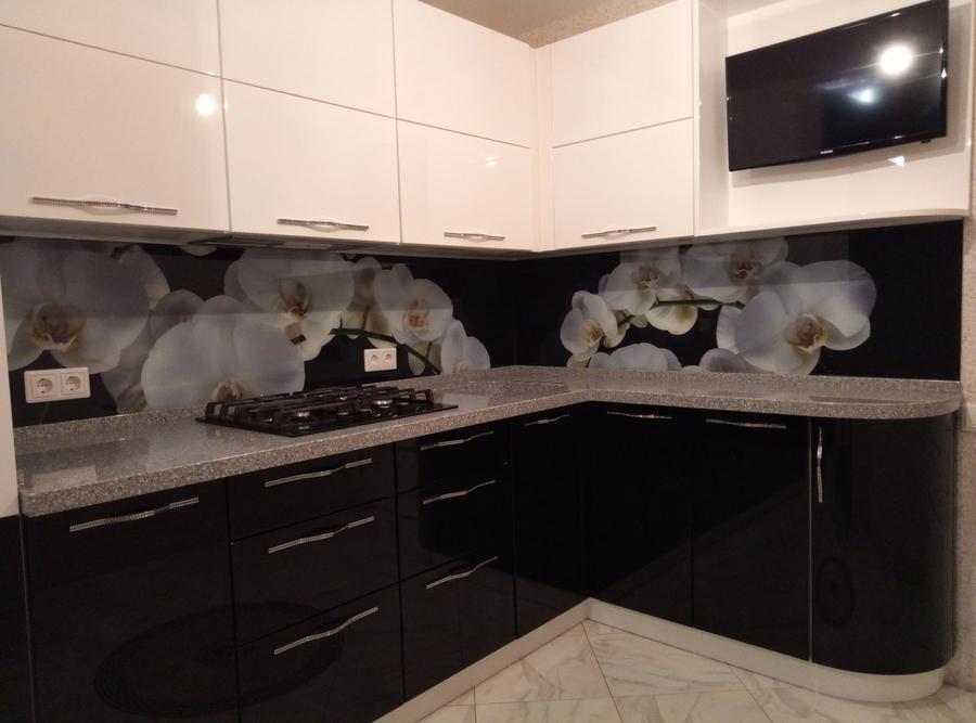 Белый кухонный гарнитур-Кухня из пластика «Модель 382»-фото2