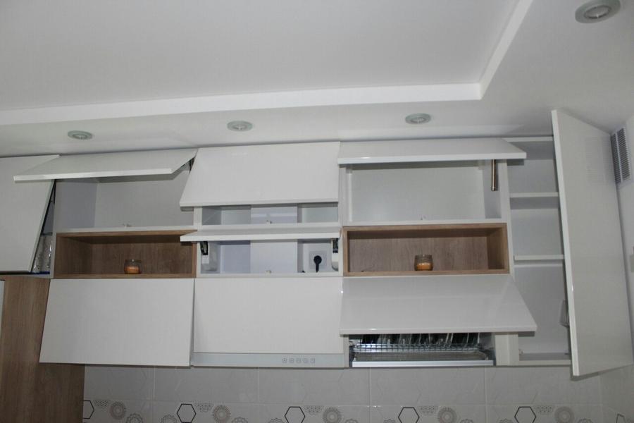 Белый кухонный гарнитур-Кухня из пластика «Модель 87»-фото7
