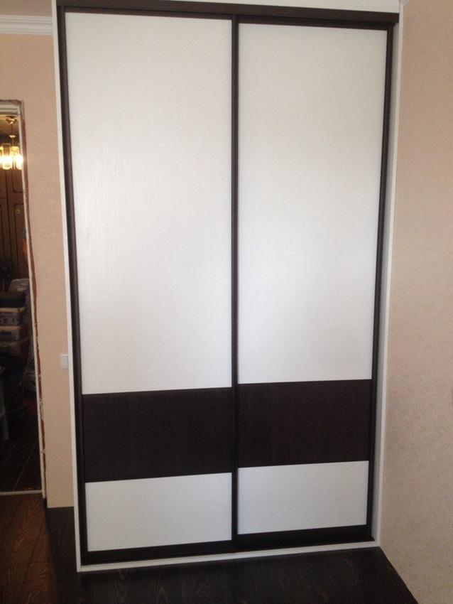 Белые шкафы-купе-Шкаф-купе из ЛДСП «Модель 497»-фото1