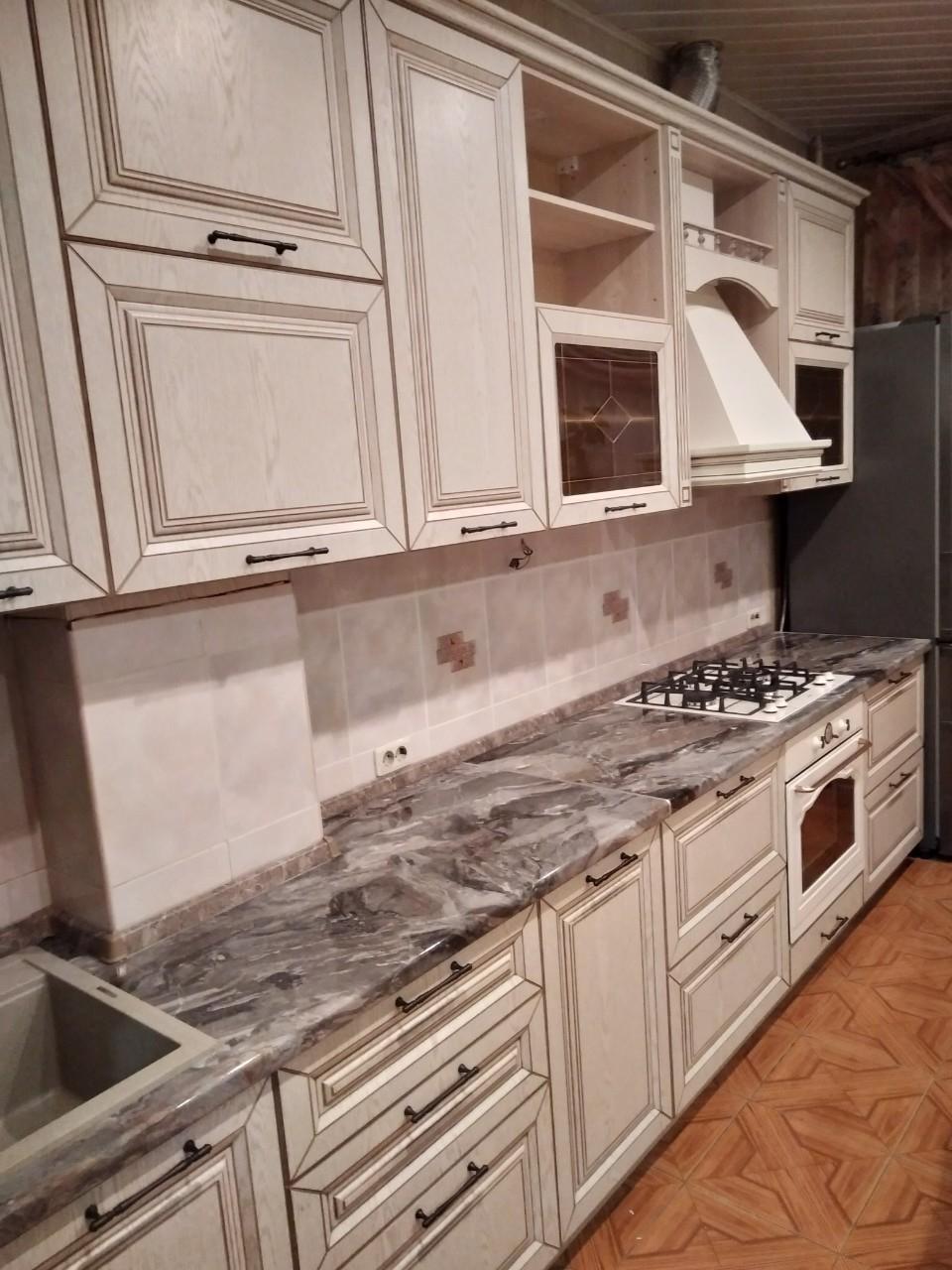 Белый кухонный гарнитур-Кухня МДФ в ПВХ «Модель 547»-фото2