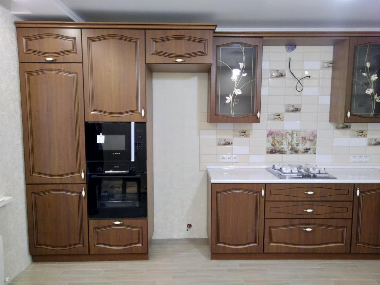 Классические кухни-Кухня МДФ в ПВХ «Модель 527»-фото2