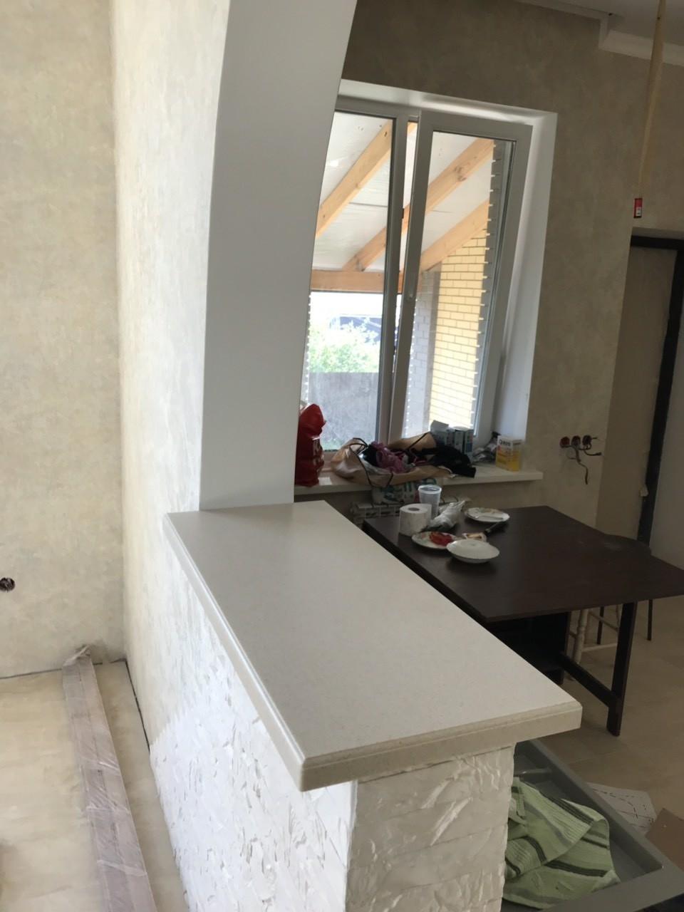 Белый кухонный гарнитур-Кухня МДФ в ПВХ «Модель 535»-фото6