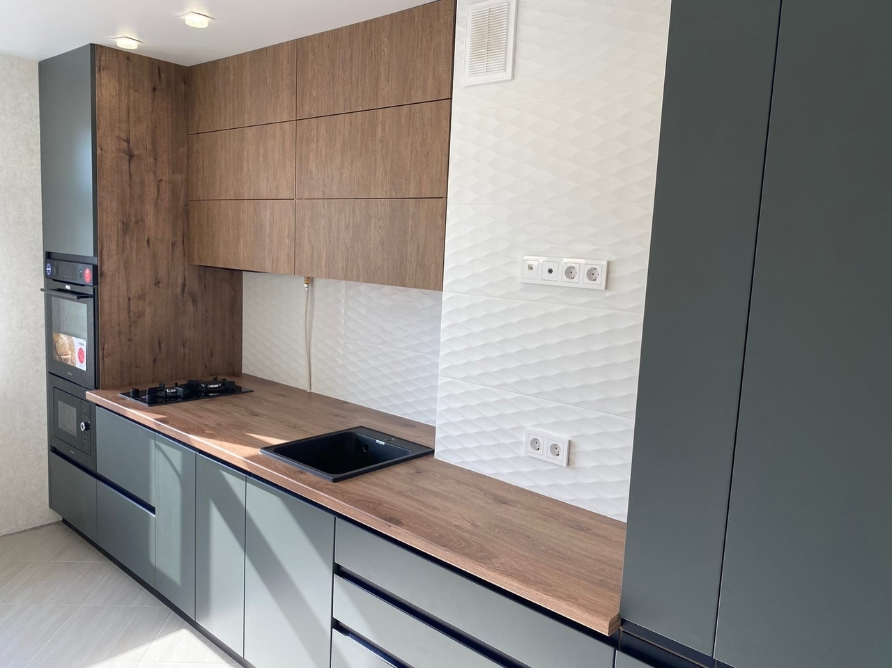Встроенная кухня-Кухня МДФ в ПВХ «Модель 564»-фото3