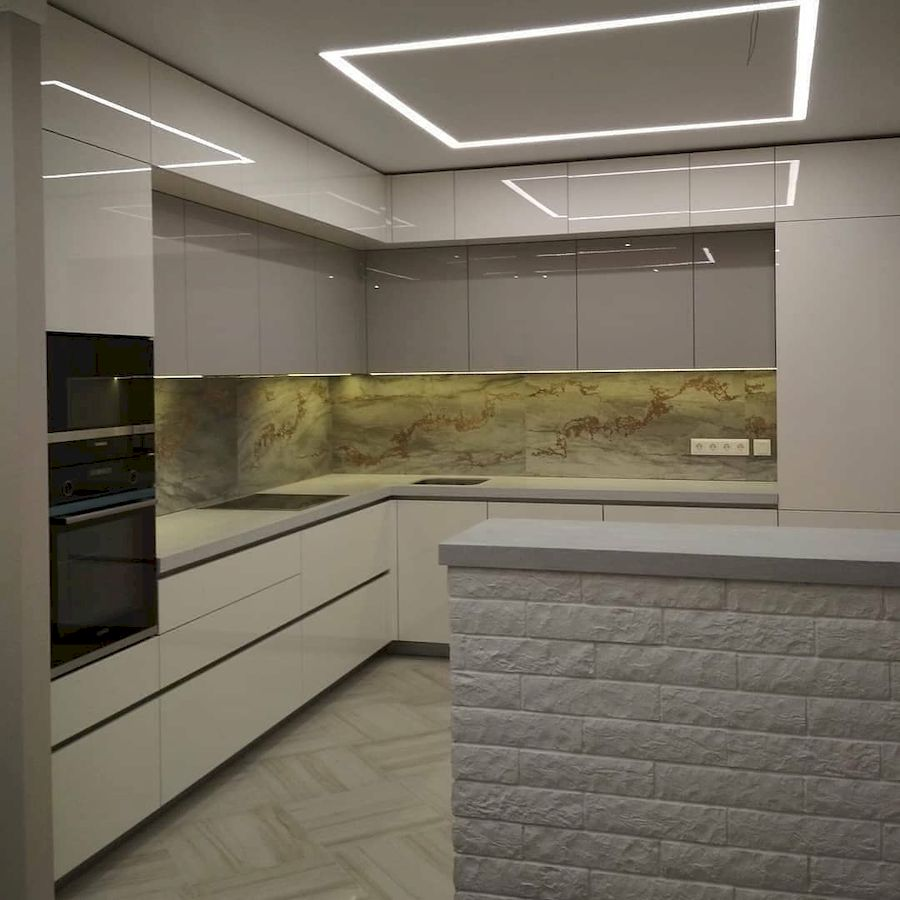 Акриловые кухни-Кухня из акрила «Модель 646»-фото2