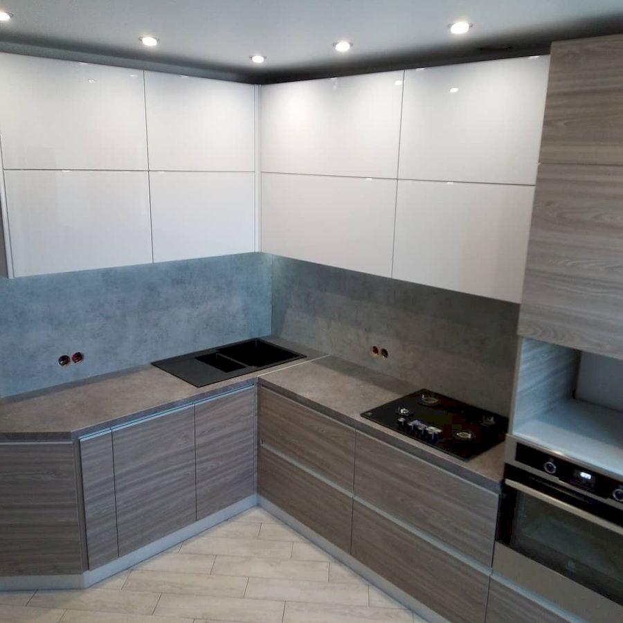 Белый кухонный гарнитур-Кухня из ЛДСП «Модель 653»-фото1