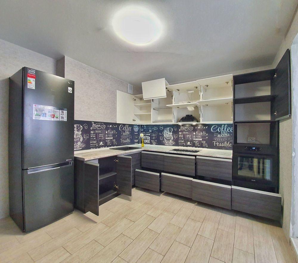 Белый кухонный гарнитур-Кухня МДФ в эмали «Модель 534»-фото3