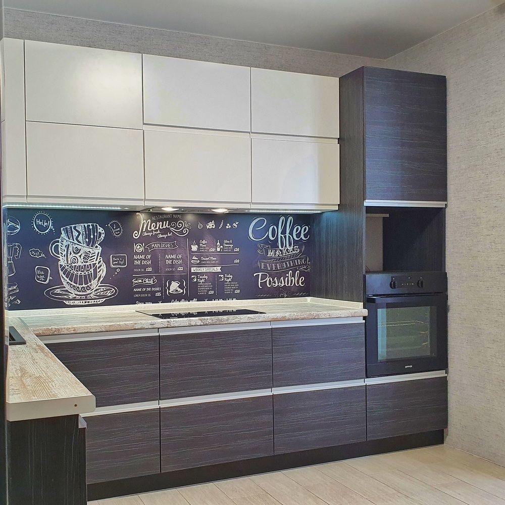 Белый кухонный гарнитур-Кухня МДФ в эмали «Модель 534»-фото2