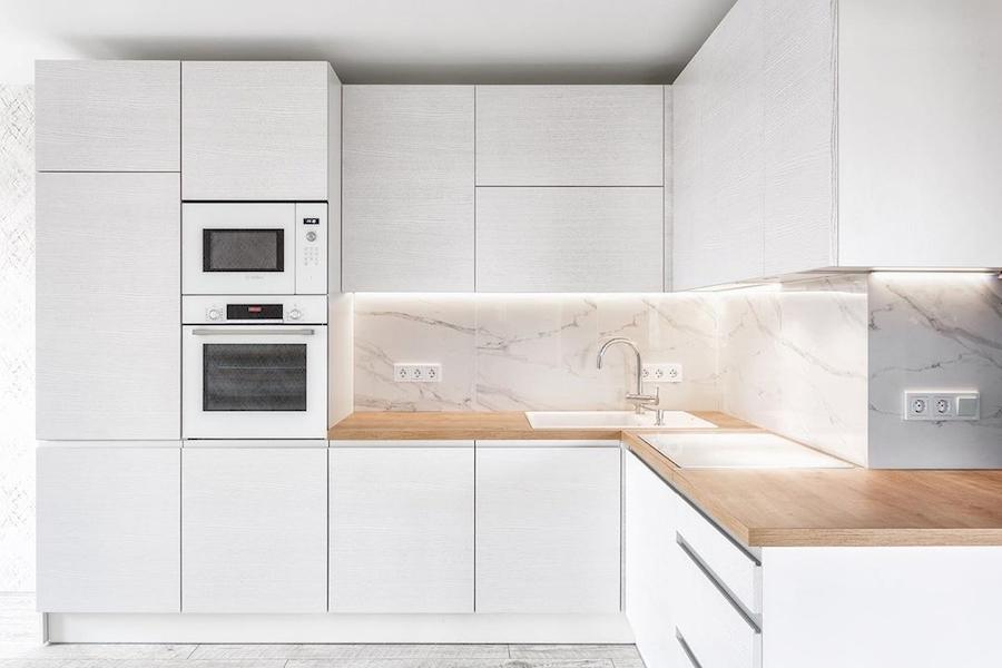 Белый кухонный гарнитур-Кухня из ЛДСП «Модель 583»-фото2