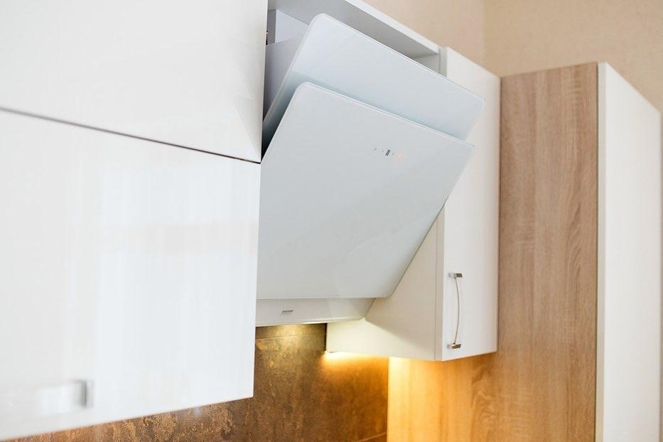 Белый кухонный гарнитур-Кухня МДФ в эмали «Модель 619»-фото5