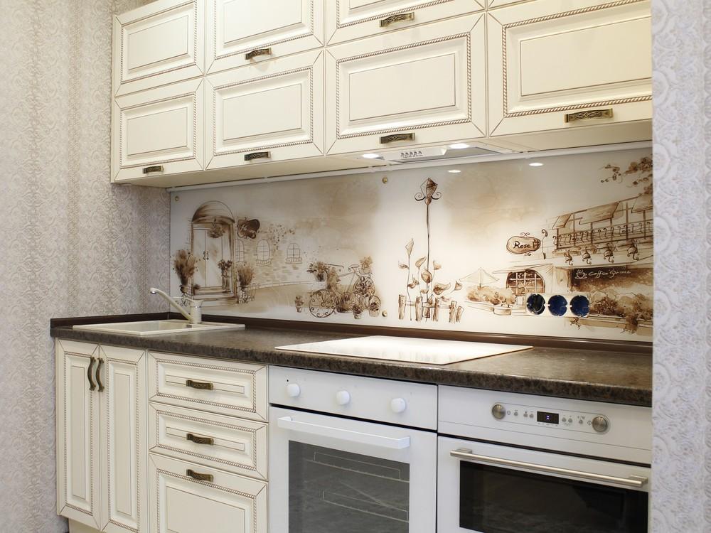 Белый кухонный гарнитур-Кухня МДФ в ПВХ «Модель 140»-фото2