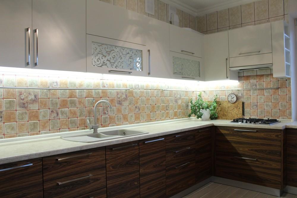 Акриловые кухни-Кухня МДФ в эмали «Модель 174»-фото2