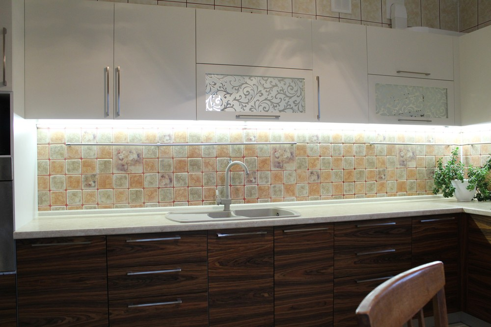 Акриловые кухни-Кухня МДФ в эмали «Модель 174»-фото3