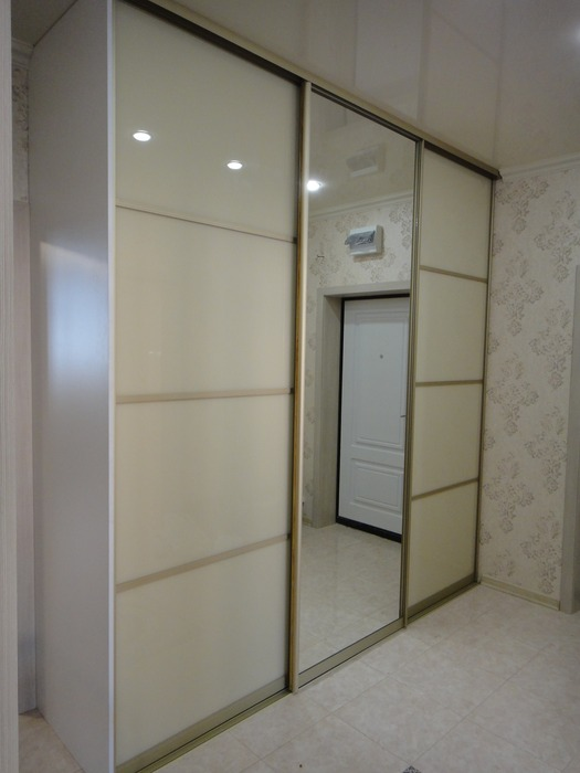 Белые шкафы-купе-Шкаф-купе с зеркалом «Модель 179»-фото3
