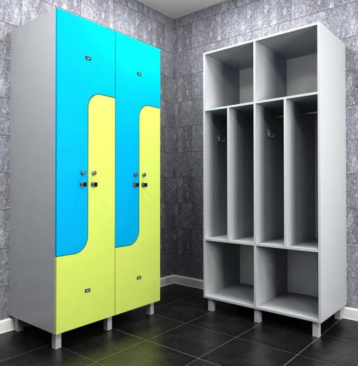 Торговая мебель-Шкафчики для раздевалки «Модель 164»-фото2