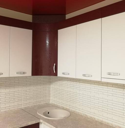 Белый кухонный гарнитур-Кухня МДФ в ПВХ «Модель 52»-фото7