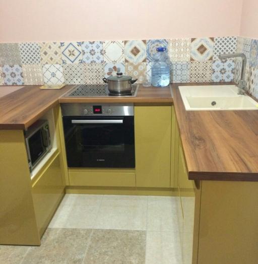 Глянцевые кухни-Кухня МДФ в эмали «Модель 90»-фото2