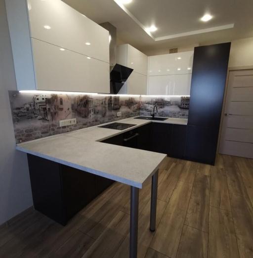 Белый кухонный гарнитур-Кухня МДФ в пленке ПВХ «Модель 93»-фото6
