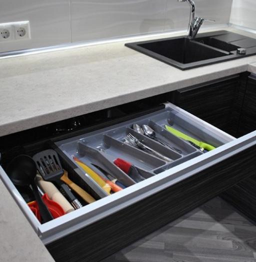 Белый кухонный гарнитур-Кухня из ЛДСП «Модель 98»-фото4