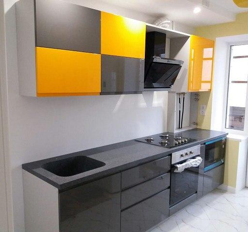 Глянцевые кухни-Кухня МДФ в эмали «Модель 401»-фото2
