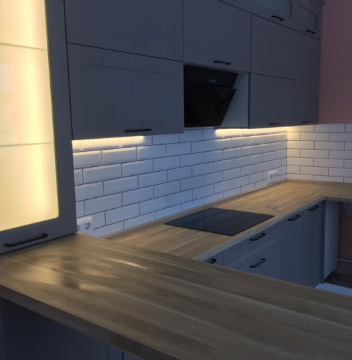 Классические кухни-Кухня МДФ в ПВХ «Модель 441»-фото5