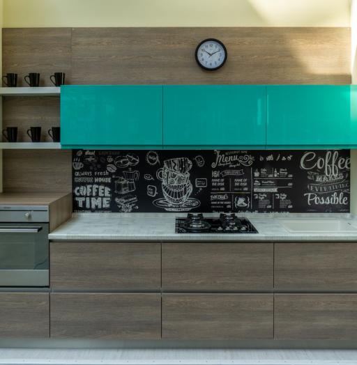 Встроенная кухня-Кухня МДФ в пластике «Модель 49»-фото11