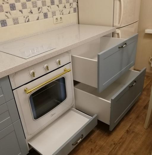 Классические кухни-Кухня МДФ в ПВХ «Модель 28»-фото15