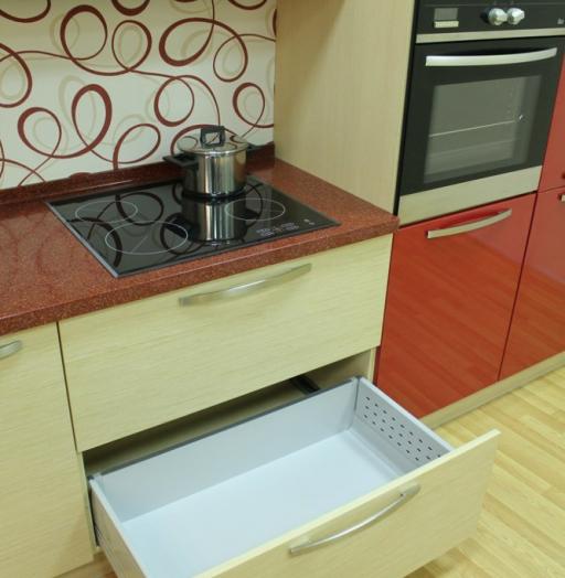 Акриловые кухни-Кухня из пластика «Модель 129»-фото16