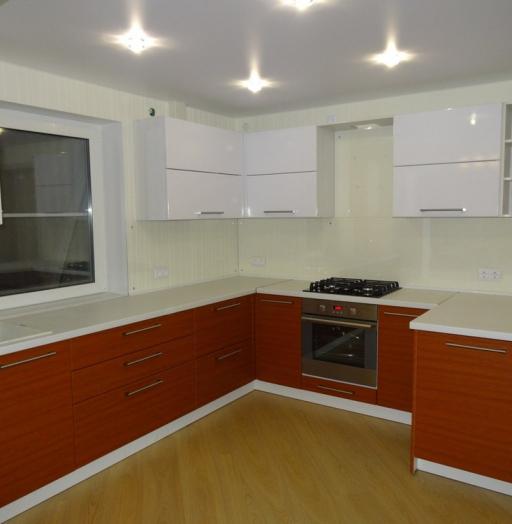 Встроенная кухня-Кухня МДФ в ПВХ «Модель 195»-фото3