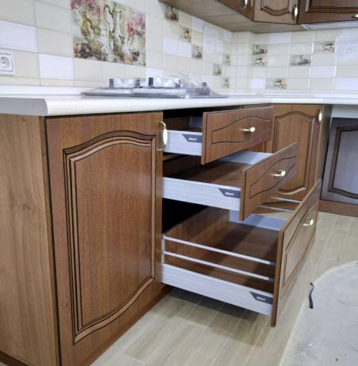 Классические кухни-Кухня МДФ в ПВХ «Модель 527»-фото10