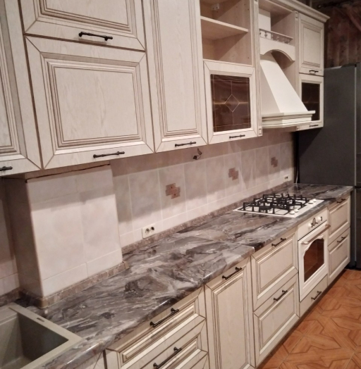 Белый кухонный гарнитур-Кухня МДФ в ПВХ «Модель 547»-фото10