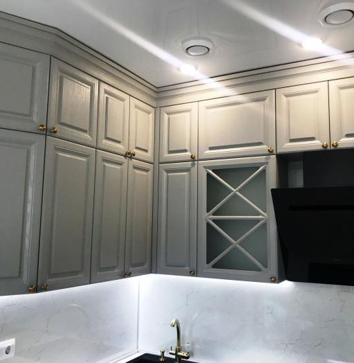 Дорогие и элитные кухни-Кухня МДФ в эмали «Модель 548»-фото3