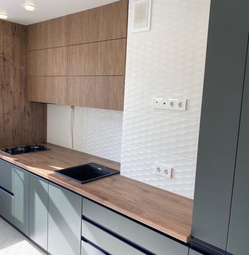 Встроенная кухня-Кухня МДФ в ПВХ «Модель 564»-фото7